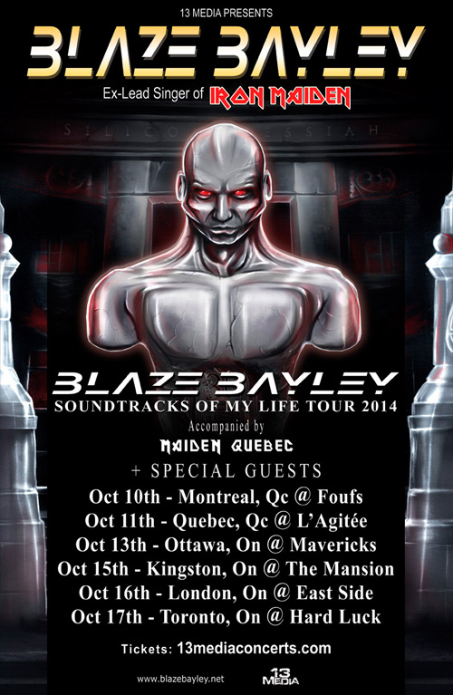 BLAZE BAYLEY - 2014 Canadian Tour